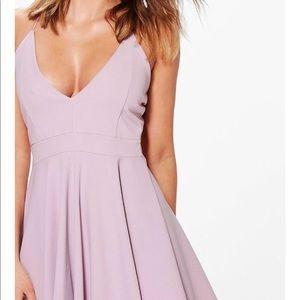 Boohoo mauve dress